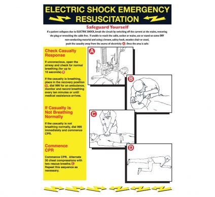 Electricity Shock Emergency - 600mmx420mm