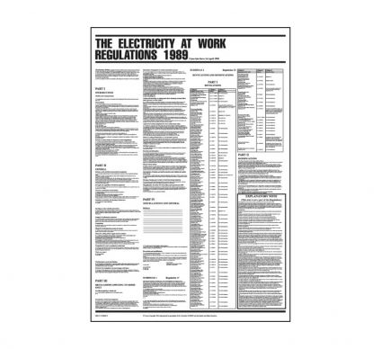 Electricity At Work Regulations - 840mmx570mm