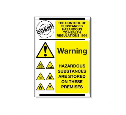 Control Of Substances Hazardous To Health Regulations - 600mx420mm