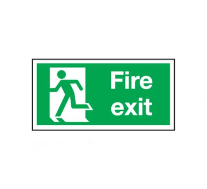 Fire Exit Sign Without Arrow - Rigid - 150x300