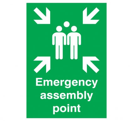 Emergency Assembly Point 400mm x 300mm Rigid