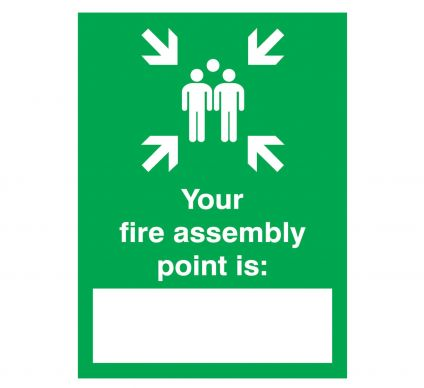 Your Fire Assembly Point - Rigid - 400mm x 300mm