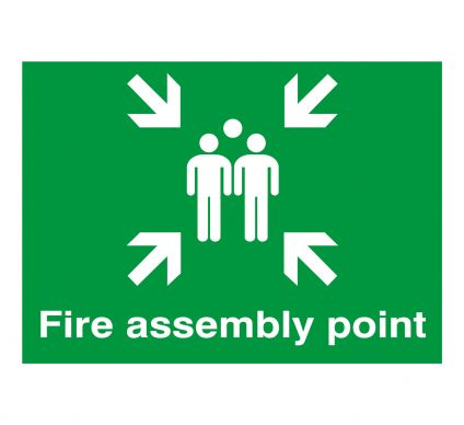 Fire Assembly Point 400mm x 300mm Rigid