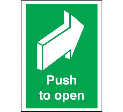 Push To Open - Self Adhesive - 210mm x 148mm