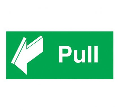 Pull Sign - Self Adhesive - 50mm x 100mm
