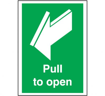 Pull To Open Sign - Self Adhesive - 297mm x 210mm