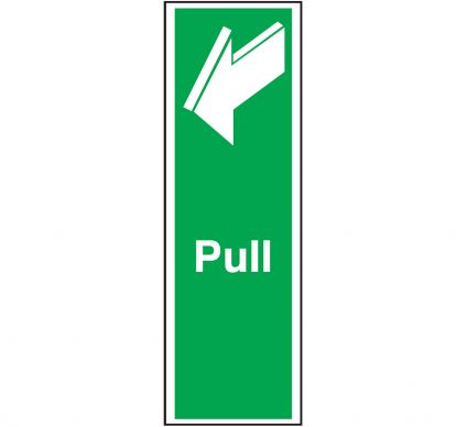 Pull Sign 150mm x 50mm Rigid