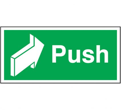 Push Sign - Self Adhesive - 50mm x 100mm