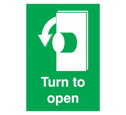 Turn To Open - Self Adhesive - 297mm x 210mm