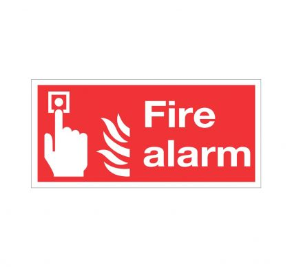 Fire Alarm - S/A - 100mmx200mm