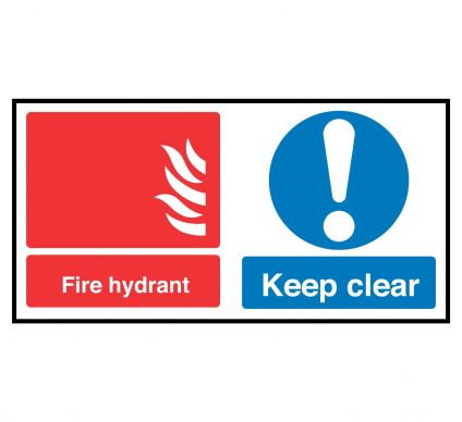 Fire Hydrant Keep Clear - Rigid - 200mmx400mm