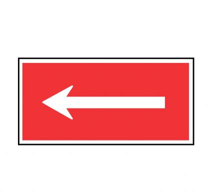 Arrow Left - Rigid - 200mm x 400mm