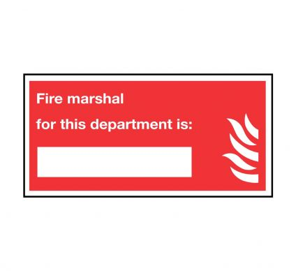 Fire Marshal for department - Rigid - 200mmx400mm