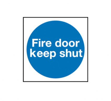 Fire Door Keep Shut - Self Adhesive - 100mm x 100mm