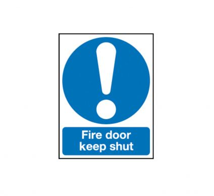 Fire Door Keep Shut 210mm x 148mm