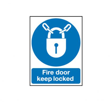 Fire Door Keep Locked 210mm x 148mm