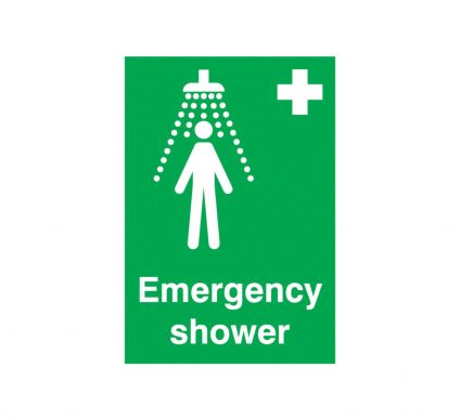 Emergency Shower - Rigid - 210mm x 148mm