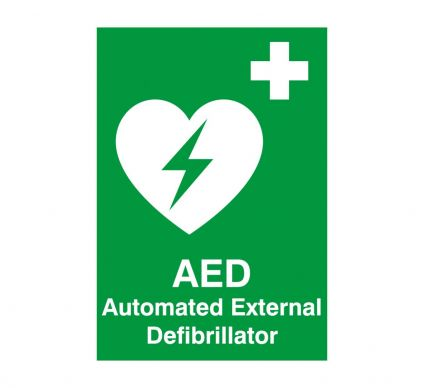 AED Automated External Defibrillator - Rigid - 250mm x 100mm