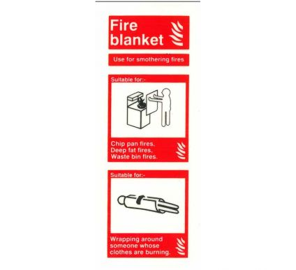 Photoluminescent Fire Blanket Location Sign
